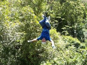 Ryan hanging upside down