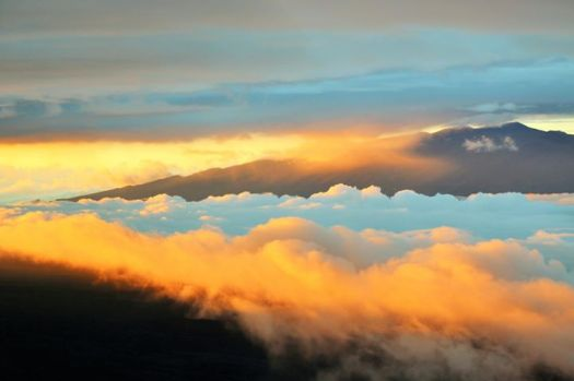 Mauna Kea in the clouds