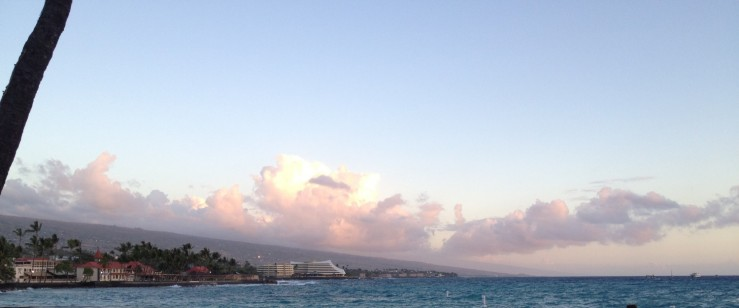 view from starting point for ironman kona