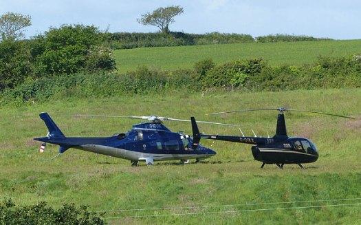 field landing