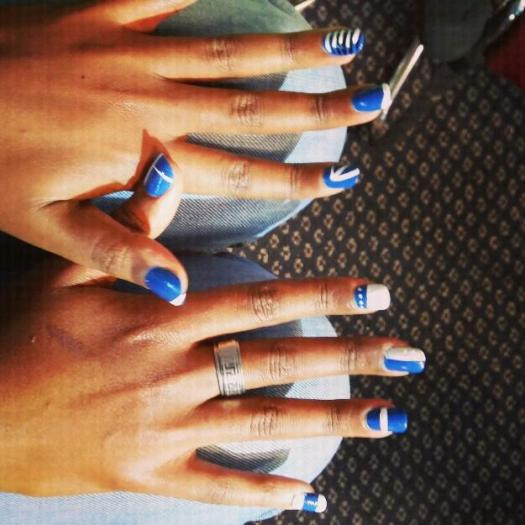 Nails painted manicure at spa in Kailua Kona Hawaii
