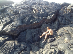 Lava field from the 1800's appears still hot