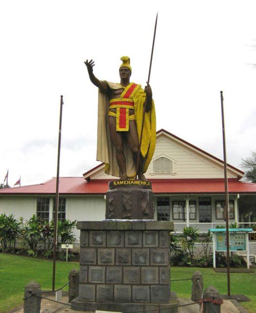 kamehameha statue in Kapa'au, Hawaii