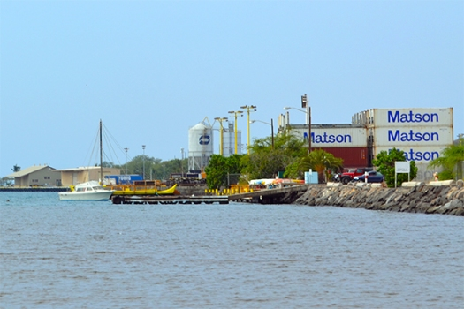 cargo containers at the harbor