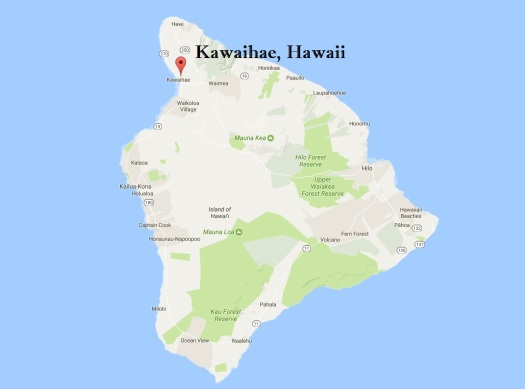 Map of Kawaihae, Hawaii