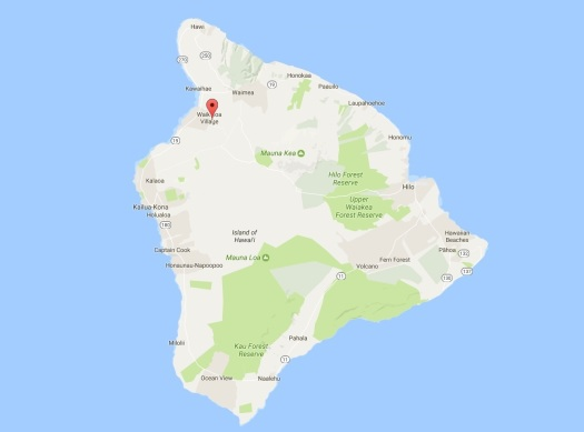Island-wide Map of Waikoloa Village, Hawaii