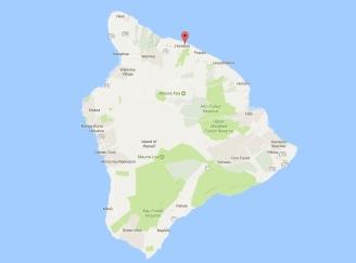 Map of Honokaa, Hawaii