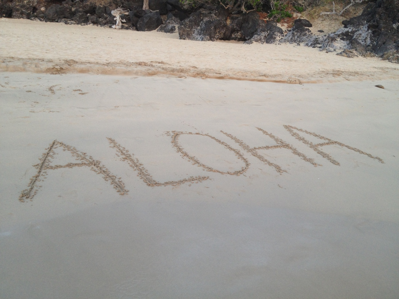 aloha in the sand