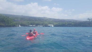 kayaking Keauhou Bay