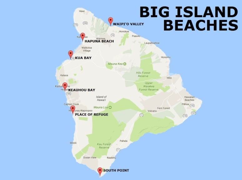 Map of Beaches