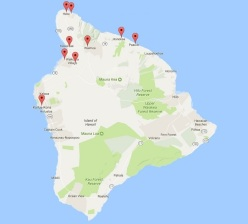 Map of the Big Island Towns