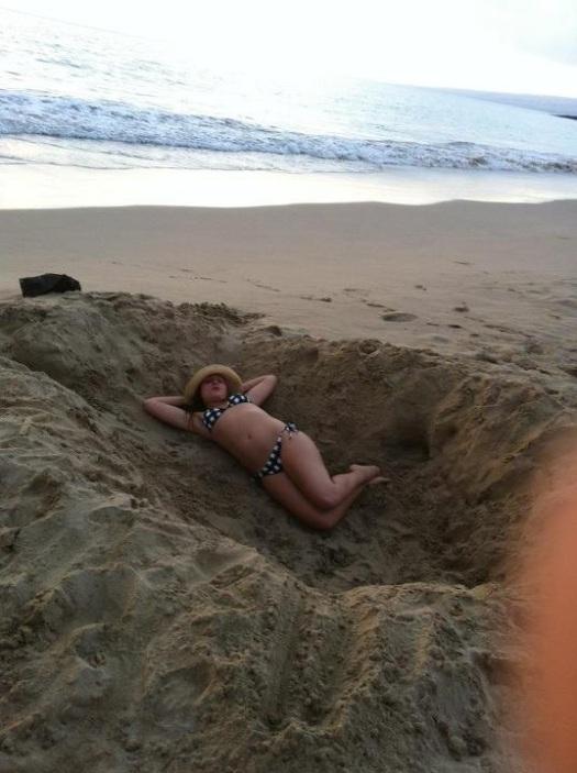 Sand hole