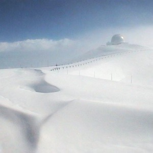 Snow at the top