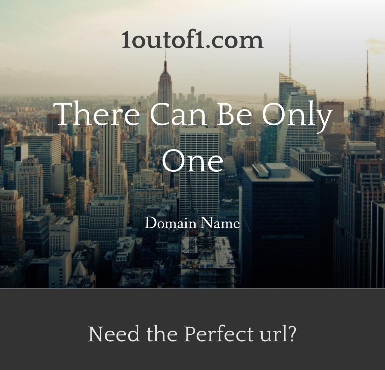 1outof1.com