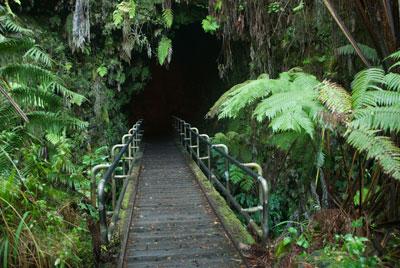 Bridged entrance into Nahuku