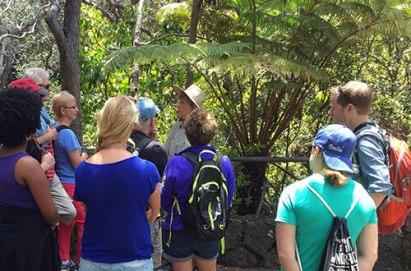 Tour guide teaching