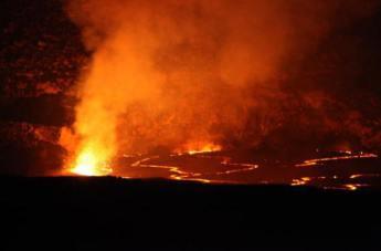 night time eruption